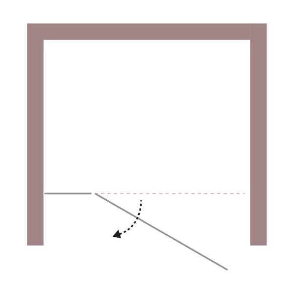 nákres DEEP krídlové dvere do niky | LOTOSAN kúpeľne