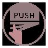 Otváranie Push to Open | LOTOSAN Kúpeľne a interiér