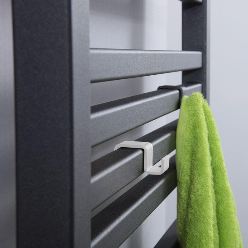 Vešiak na radiátor LOTOSAN - biely, čierny | PREDOS-BB