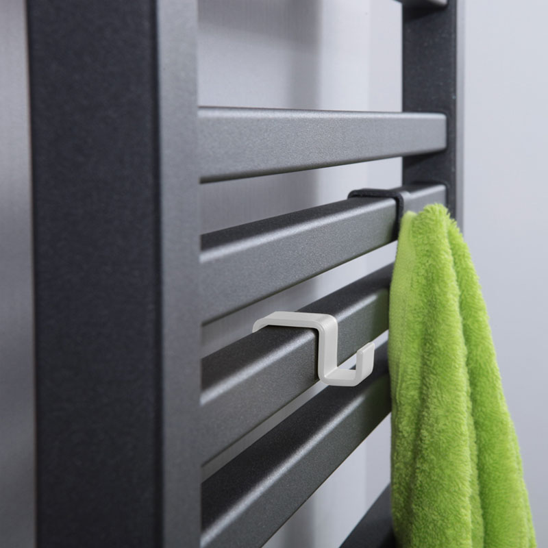 Vešiak na radiátor - biely, čierny | LOTOSAN
