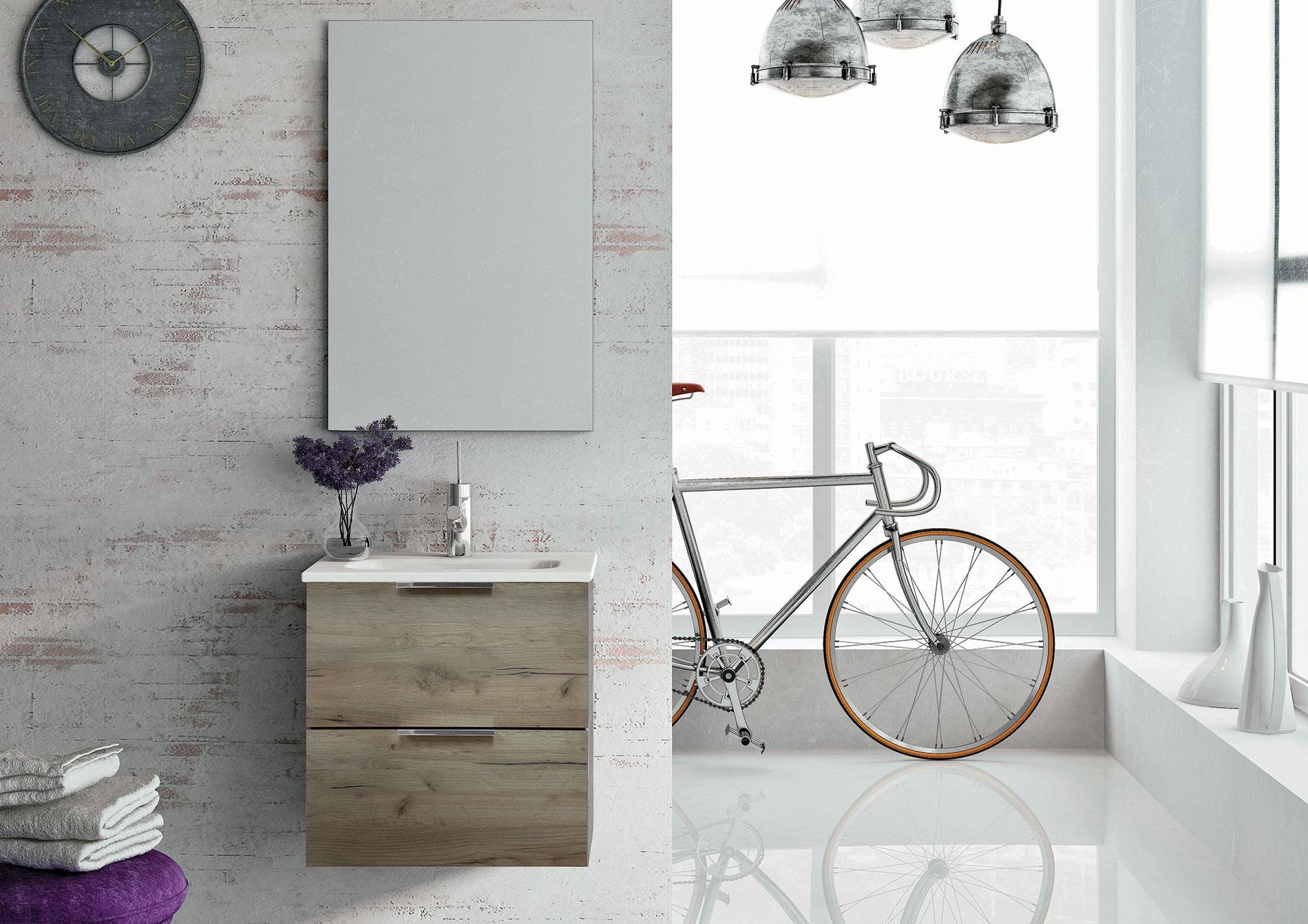 Set umývadlo + skrinka LILY 50 cm – Dub craft štruktúrovaná 1
