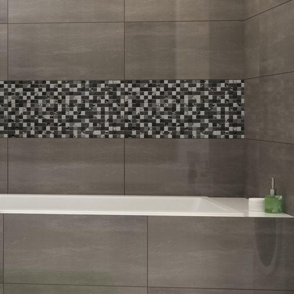 BOOKA obklad grafit | LOTOSAN kúpeľne