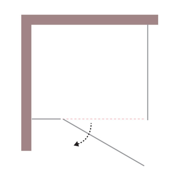 nákres DEEP Krídlové dvere | LOTOSAN kúpeľne