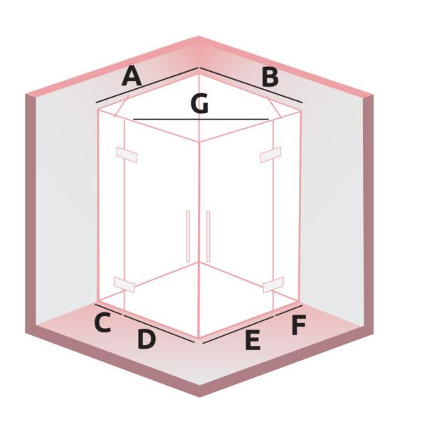 nákres DEEP dvojkrídlové dvere | LOTOSAN kúpeľne