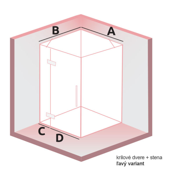 nákres DEEP Krídlové dvere + stena ľavý | LOTOSAN kúpeľne