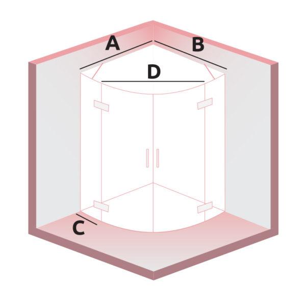 nákres DEEP sprchovací kút | LOTOSAN kúpeľne