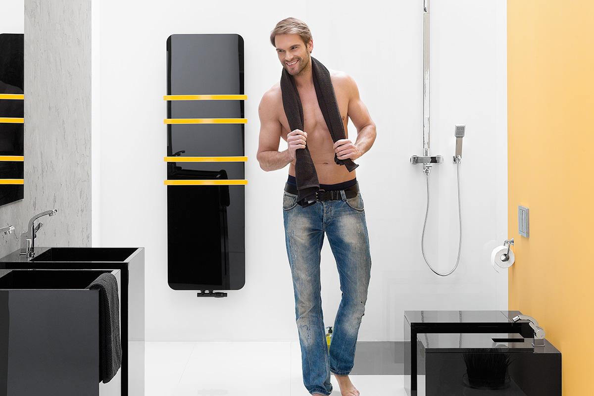 NILA radiátor čierna | LOTOSAN kúpeľne