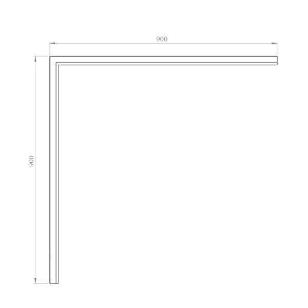 nákres GATE obdĺžniková vanička 80x120 cm | LOTOSAN kúpeľňa