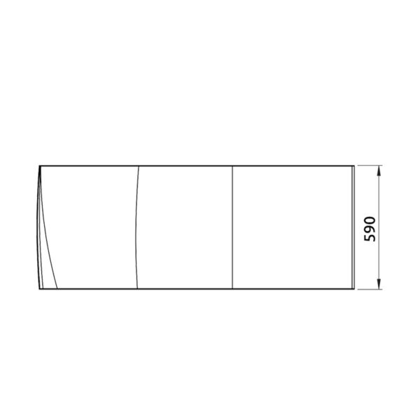 nákres panel k asymetrickej vani | LOTOSAN kúpeľňa