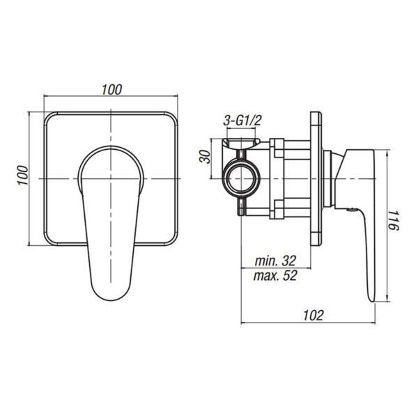DIANA podomietková sprchová batéria | LOTOSAN kúpeľňa