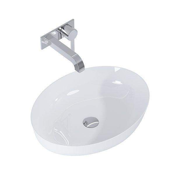 Umývadlo na dosku biela lesklá BLANCHE 52 x 39,5 cm | LOTOSAN Kúpeľne a Interiér