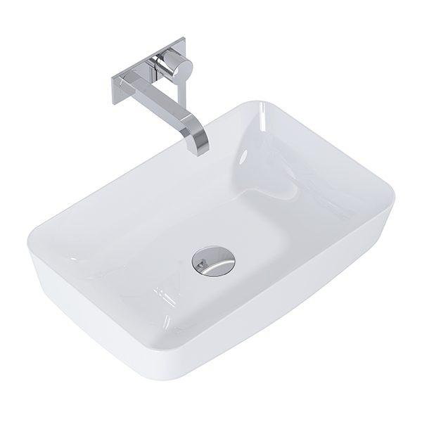 Umývadlo na dosku biela lesklá DAPHNE 50 x 39 cm   LOTOSAN Kúpeľne a Interiér