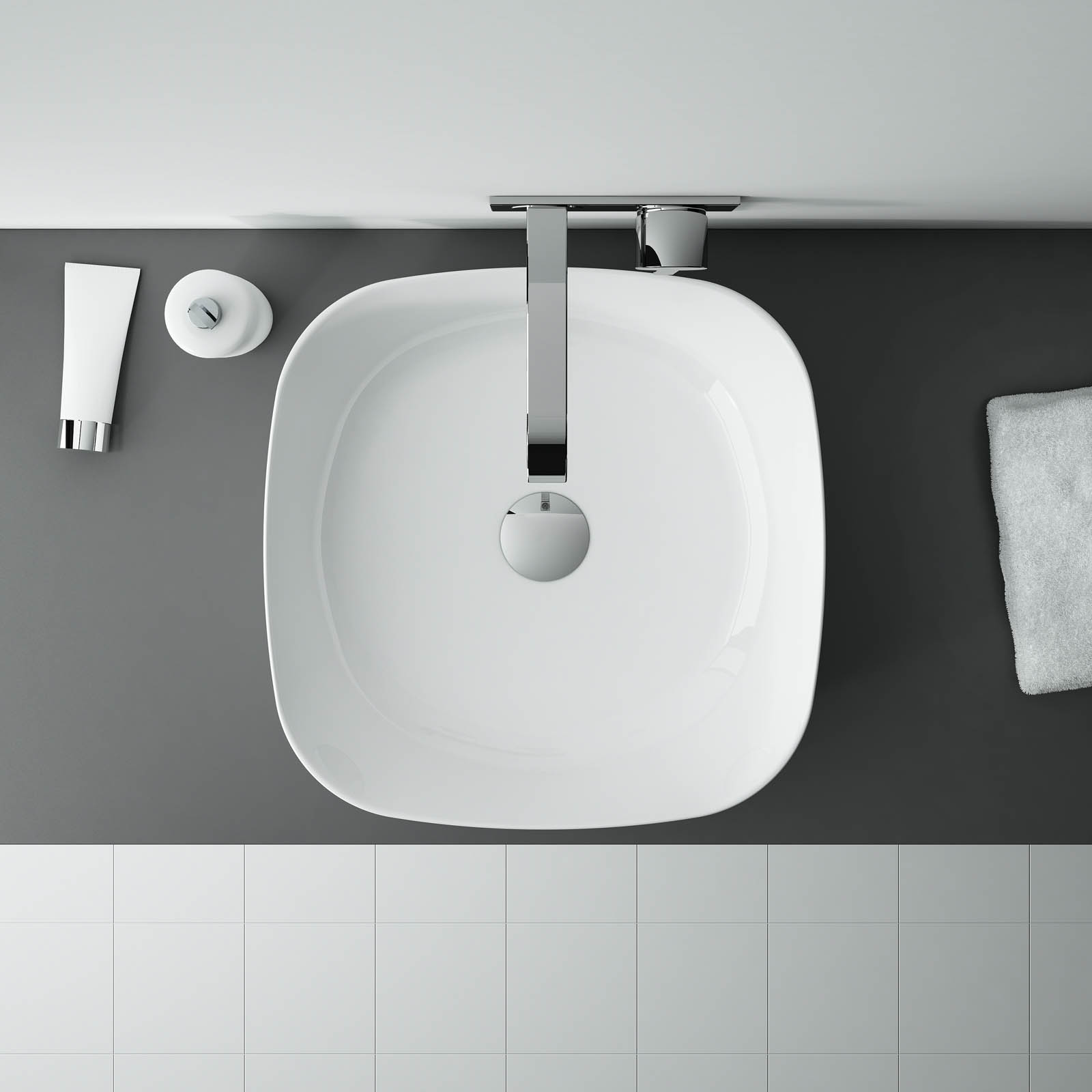 Umývadlo na dosku ELIZA 44 x 44 cm 2
