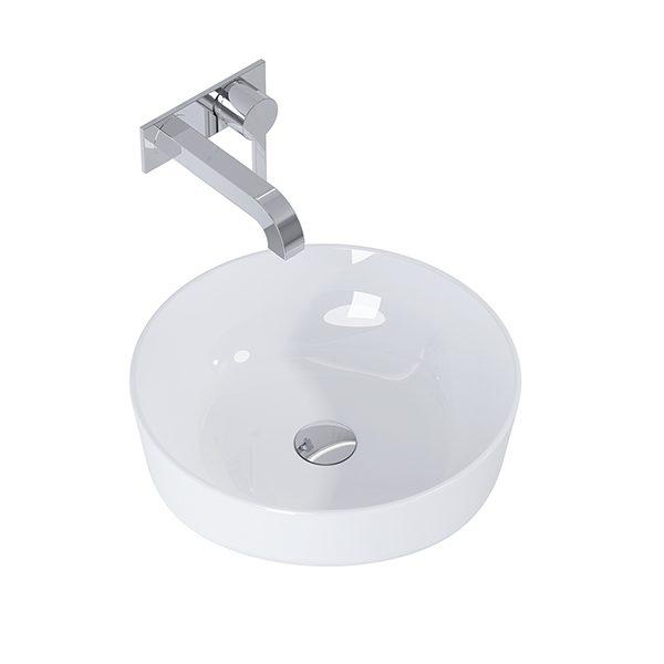Umývadlo na dosku biela lesklá LIMONA 41,5 x 41,5 cm | LOTOSAN Kúpeľne a Interiér