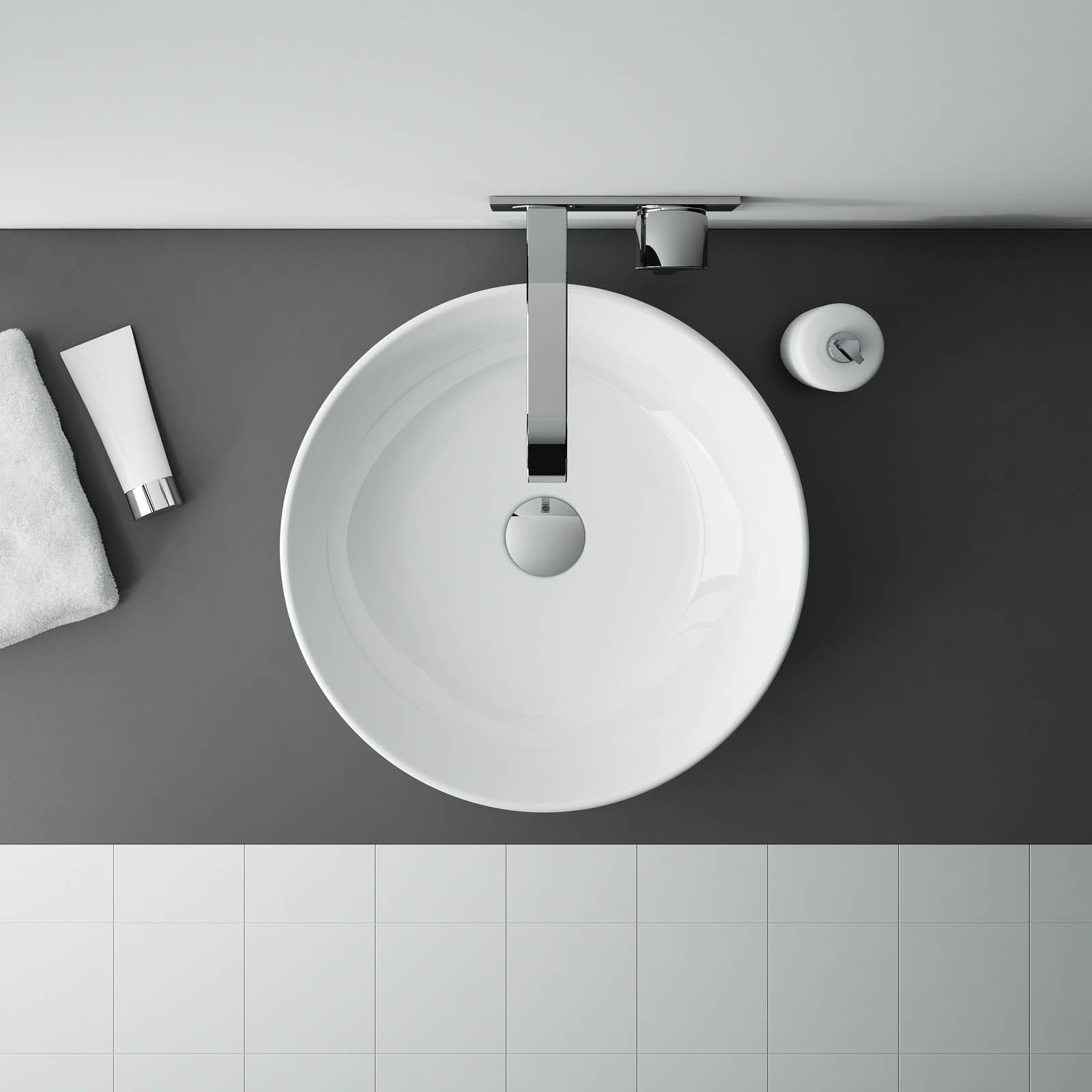 Umývadlo na dosku LIMONA 41,5 x 41,5 cm | LOTOSAN Kúpeľne a Interiér