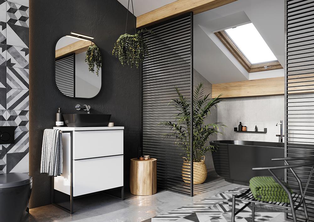 Bočný kovový rám SCARLET   LOTOSAN Kúpeľne a Interiér