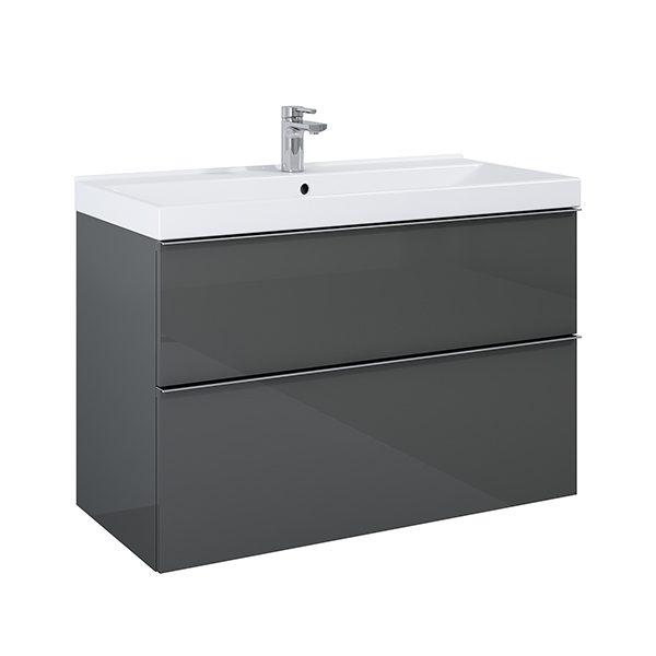 Skrinka pod umývadlo / dosku SCARLET 100 cm, 2 zásuvky