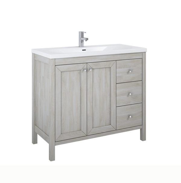 Skrinka pod umývadlo / dosku stará biela 100 cm SENSEA | LOTOSAN Kúpeľne a Interiér