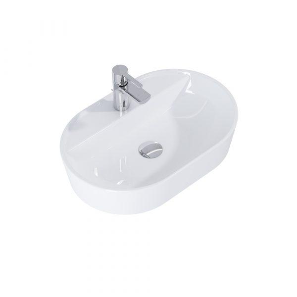 Umývadlo na dosku ARIA 62cm biela   LOTOSAN Kúpeľne a interiér