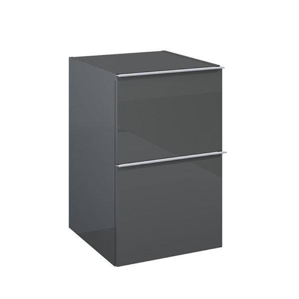 Bočná skrinka SCARLET antracit 2 zasuvky 40cm | LOTOSAN Kúpeľne a interiér