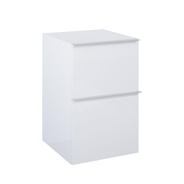 Bočná skrinka SCARLET biela 2 zasuvky 40cm | LOTOSAN Kúpeľne a interiér