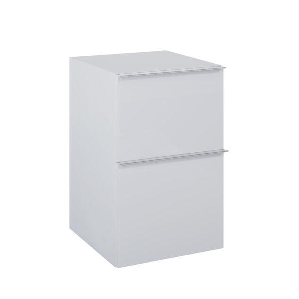 Bočná skrinka SCARLET siva matna 2 zasuvky 40cm | LOTOSAN Kúpeľne a interiér
