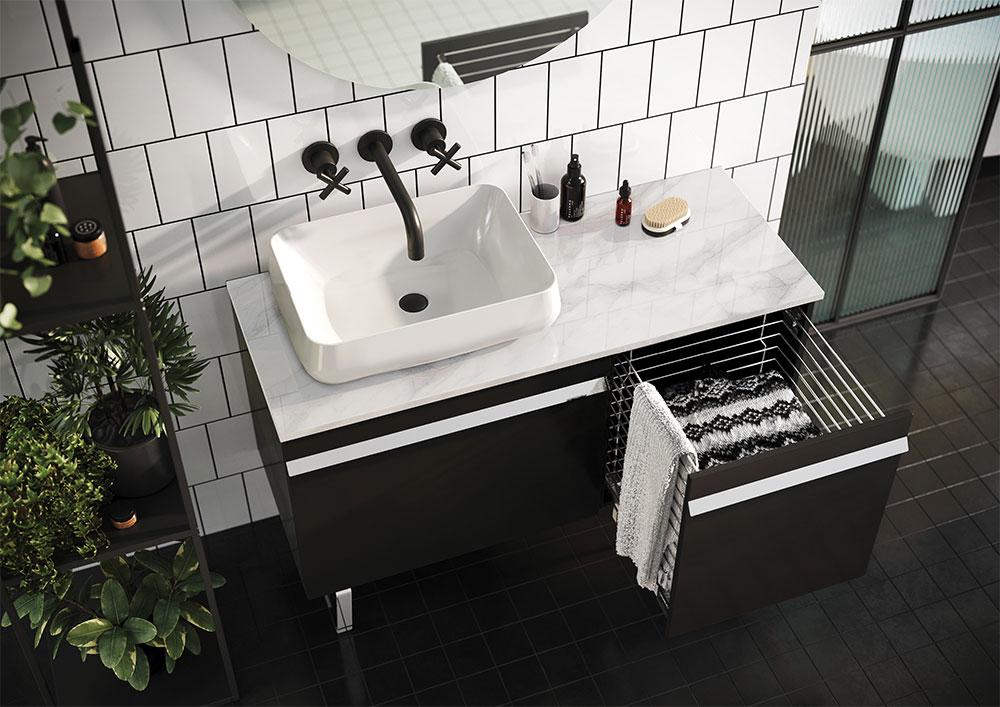 Kontajner s košom na prádlo MAVIS | LOTOSAN Kúpeľne a Interiér