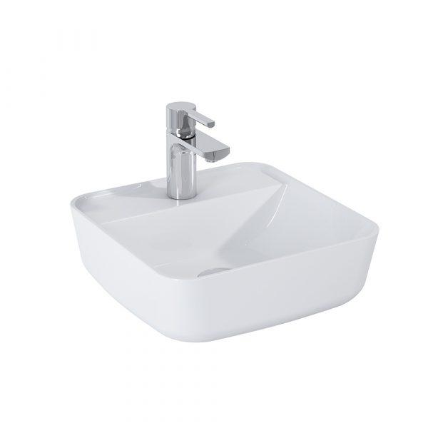 Umývadlo na dosku MIA 39cm biela lesklá | LOTOSAN Kúpeľne a interiér