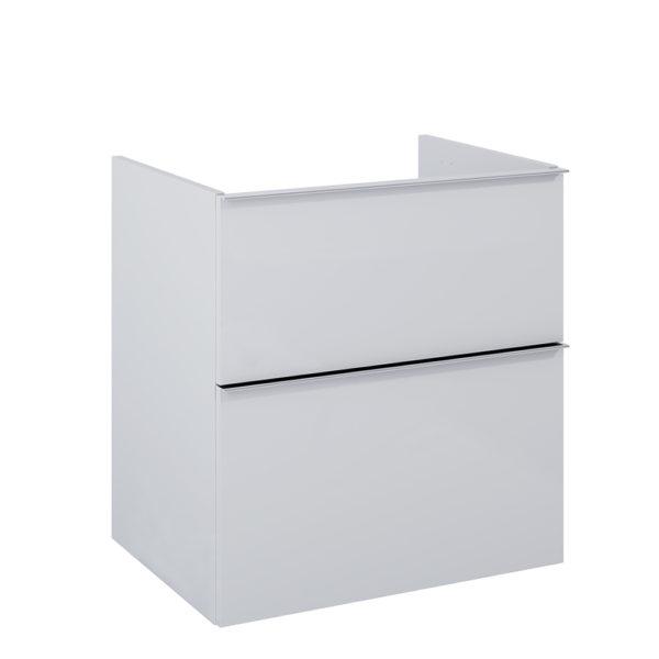 Postranná skrinka pod dosku SCARLET sivá matna 2 zasuvky 60cm   LOTOSAN Kúpeľne a interiér