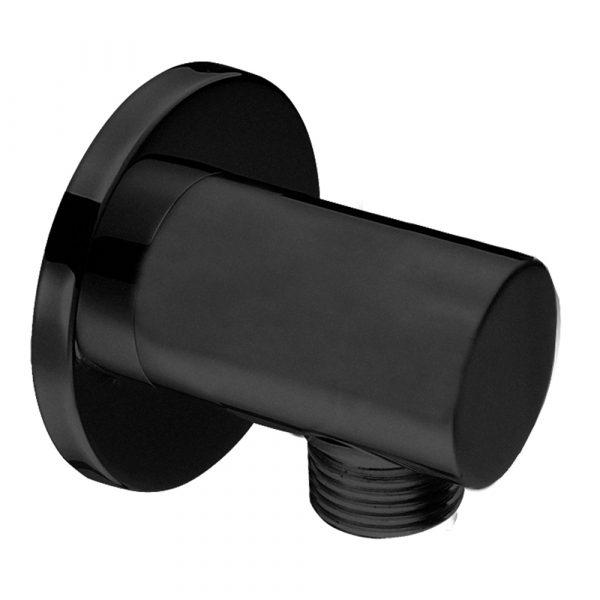 Rohová prípojka ručnej sprchy čierna   LOTOSAN Kúpeľne a interiér