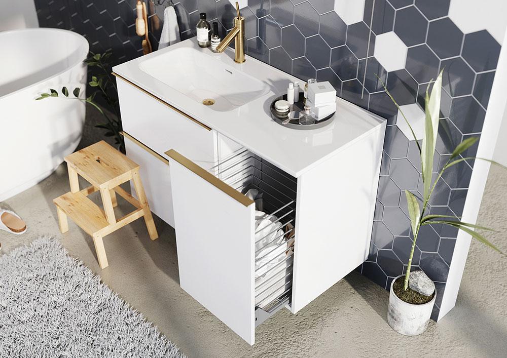 Kontajner na prádlo s košom 40 cm SCARLET | LOTOSAN Kúpeľne a Interiér