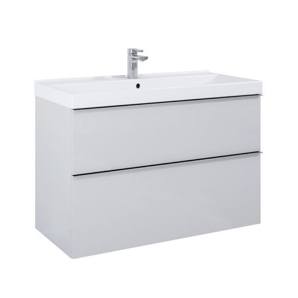 Skrinka pod umývadlo / dosku SCARLET sivá matna 2 zasuvky 100cm | LOTOSAN Kúpeľne a interiér