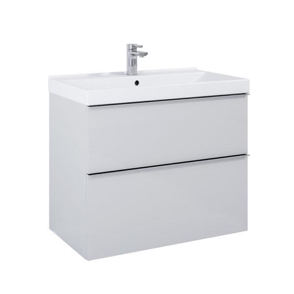 Skrinka pod umývadlo / dosku SCARLET sivá matna 2 zasuvky 80cm   LOTOSAN Kúpeľne a interiér