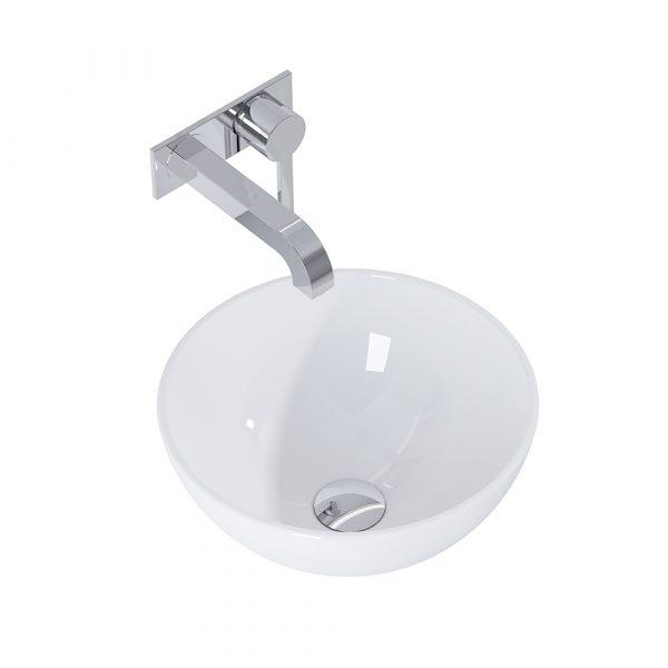 Umývadlo na dosku CORAL 36cm biela lesklá | LOTOSAN Kúpeľne a interiér