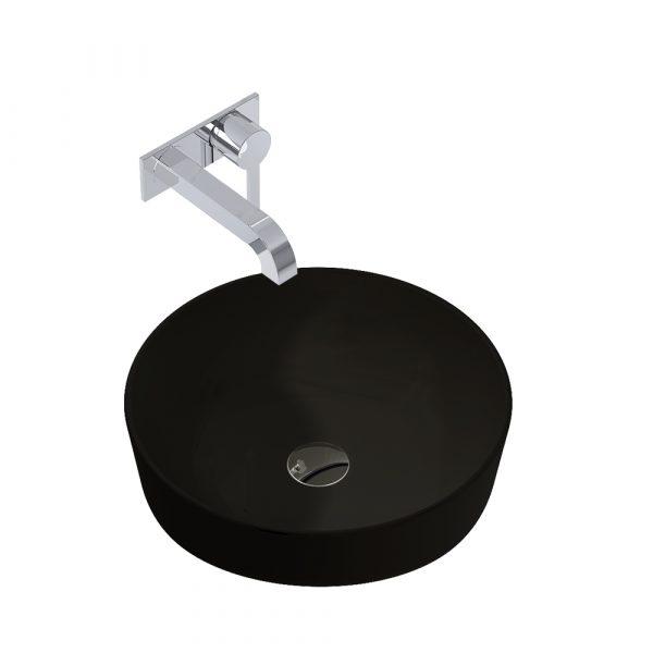Umývadlo na dosku LIMONA 41,5 cm čierna matná | LOTOSAN Kúpeľne a interiér