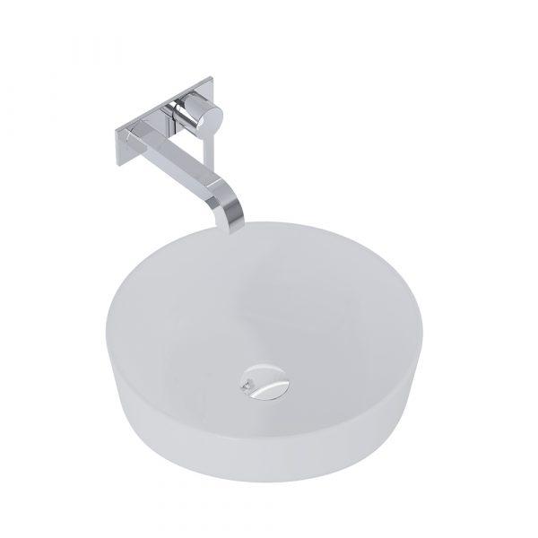 Umývadlo na dosku LIMONA 41,5 cm svetlá sivá matná | LOTOSAN Kúpeľne a interiér