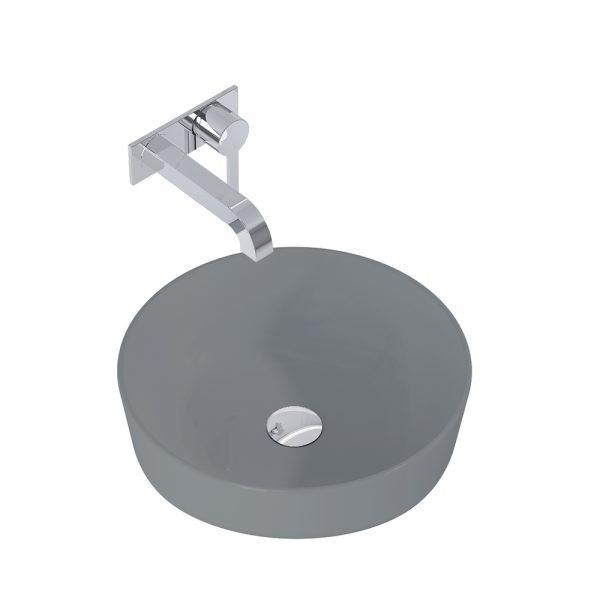 Umývadlo na dosku LIMONA 41,5 cm tmavá sivá matná | LOTOSAN Kúpeľne a interiér