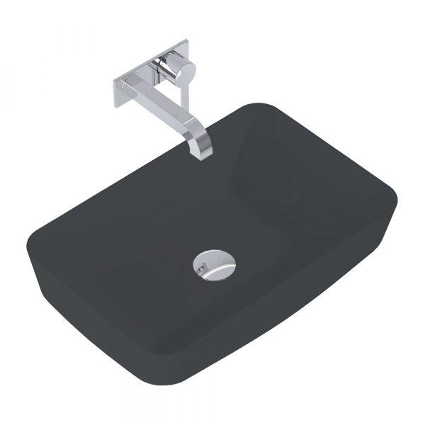 Umývadlo na dosku DAPHNE 50cm antracit matná   LOTOSAN Kúpeľne a interiér