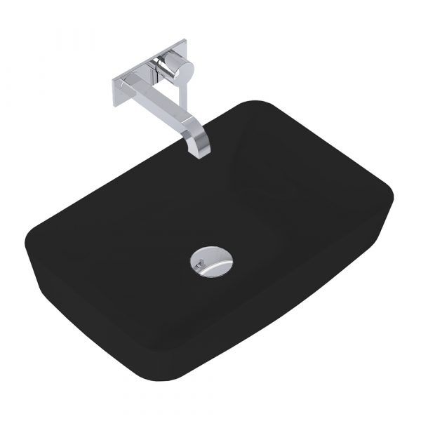 Umývadlo na dosku DAPHNE 50cm čierna matná   LOTOSAN Kúpeľne a interiér