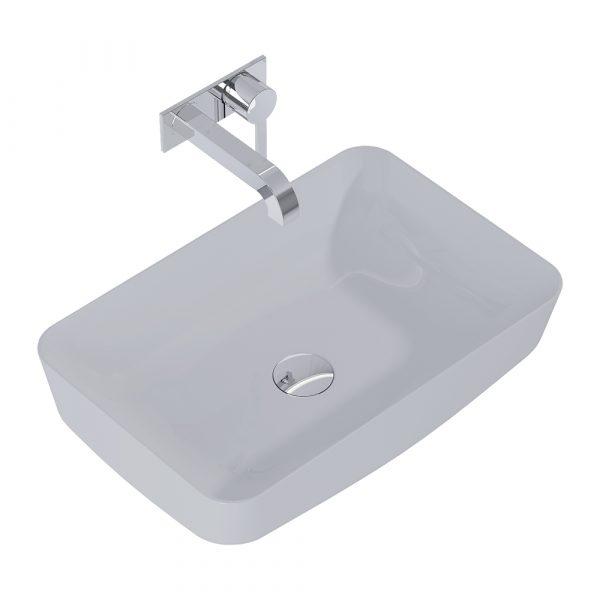 Umývadlo na dosku DAPHNE 50cm svetlá sivá matná   LOTOSAN Kúpeľne a interiér