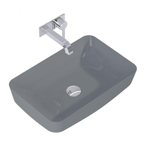 Umývadlo na dosku DAPHNE 50cm tmavá sivá matná   LOTOSAN Kúpeľne a interiér