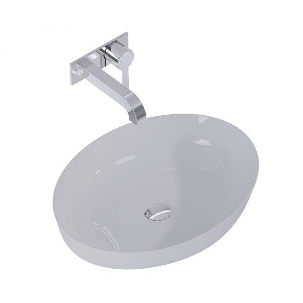 Umývadlo na dosku BLANCHE 52 cm svetlá sivá matná | LOTOSAN Kúpeľne a interiér