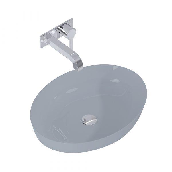 Umývadlo na dosku BLANCHE 52 cm tmavá sivá matná | LOTOSAN Kúpeľne a interiér