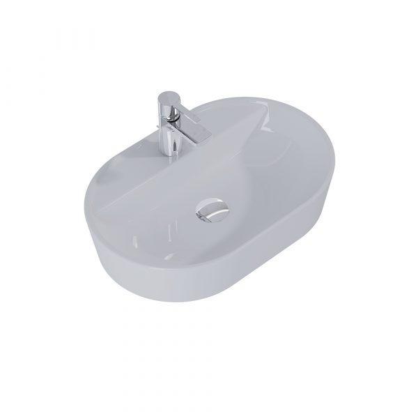 Umývadlo na dosku ARIA 62cm svetlá sivá matná   LOTOSAN Kúpeľne a interiér