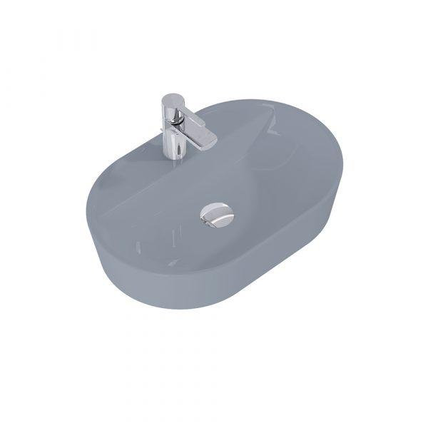 Umývadlo na dosku ARIA 62cm tmavá sivá matná   LOTOSAN Kúpeľne a interiér