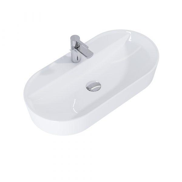 Umývadlo na dosku ARIA 80cm biela   LOTOSAN Kúpeľne a interiér