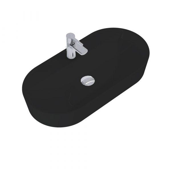 Umývadlo na dosku ARIA 80cm čierna matná   LOTOSAN Kúpeľne a interiér