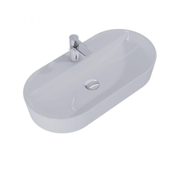 Umývadlo na dosku ARIA 80cm svetlá sivá matná   LOTOSAN Kúpeľne a interiér